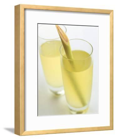 Lemon Grass Lemonade in Two Glasses