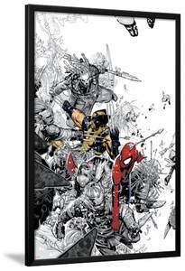 The Amazing Spider-Man No.555 Cover: Spider-Man and Wolverine by Chris Bachalo