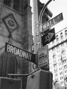 Broadway and Wall Street by Chris Bliss
