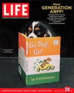 King Charles Spaniel with his Nose in the Children's Book: Go, Dog. Go!, February 24, 2006 by Chris Buck