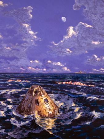 Apollo Mission Splashdown by Chris Butler