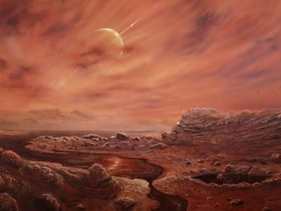 Artist's Impression of Surface of Titan by Chris Butler