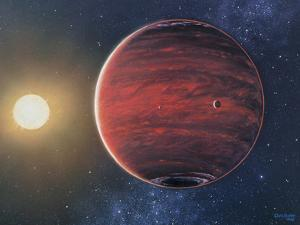 Artwork Depicting the Planet 51 Pegasi B & Its Sun by Chris Butler
