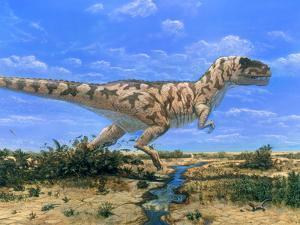 Artwork of a Tyrannosaurus Rex Dinosaur by Chris Butler