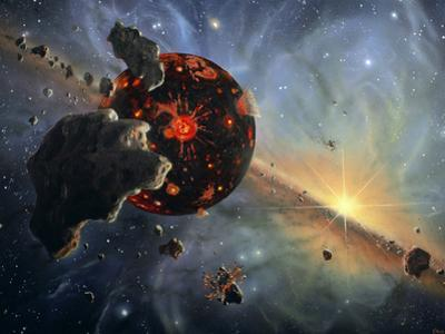 Artwork of Formation of the Solar System by Chris Butler
