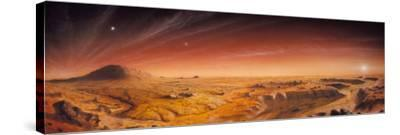 Artwork of Mars Surface Panoroma
