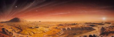 Artwork of Mars Surface Panoroma by Chris Butler