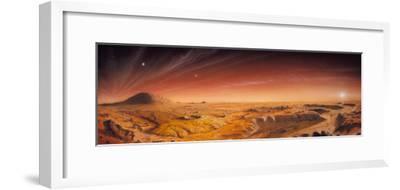 Artwork of Mars Surface Panoroma