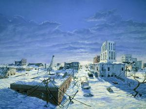Artwork of Ruined City Destroyed by Blizzards by Chris Butler