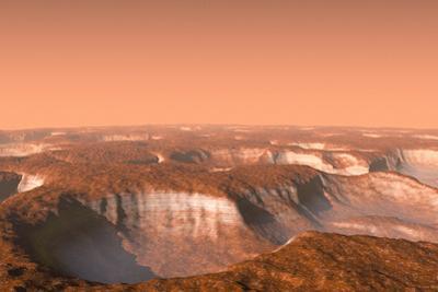 Carbon Dioxide Ice on Mars, Artwork by Chris Butler