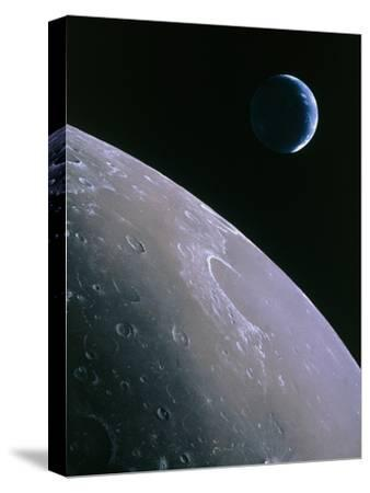 Illustration of Earthrise Seen From Lunar Orbit