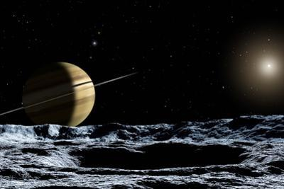Saturn From Rhea by Chris Butler