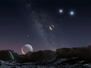 View From An Alien Planet, Artwork by Chris Butler