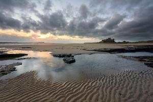 A View of Bamburgh Castle in Northumberland by Chris Button
