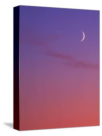 Evening Sky in Magenta with Crescent Moon - Background, Canada.