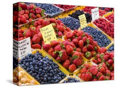 Jean Talon Market with Fresh Berries on Display, Montreal, Quebec, Canada