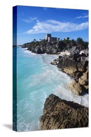 Mexico, Yucatan Peninsula, Carribean Sea at Tulum, the Only Mayan Ruin by Sea