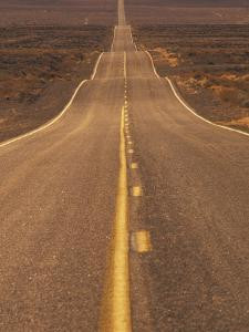 USA, California, Death Valley- Long Shot of Desert Highway by Chris Cheadle