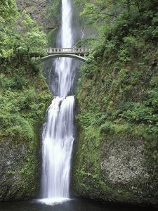 USA, Oregon, Columbia River Gorge Area, Scenic Waterfalls, Multonomah Falls by Chris Cheadle