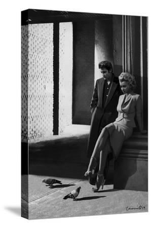 Marilyn and Elvis On the Street Corner