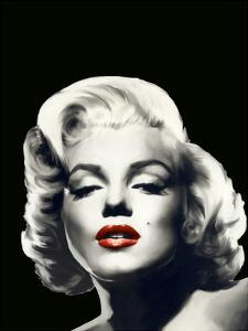 Red Lips Marilyn In Black by Chris Consani