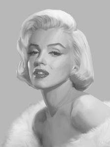 True Blue Marilyn by Chris Consani
