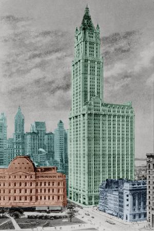 New York Postcard - Woolworth
