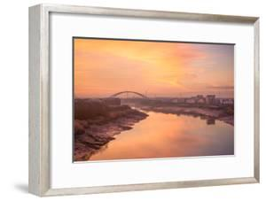 The River Usk as it Flows Through Newport City Towards the Severn Estuary by Chris Godfrey