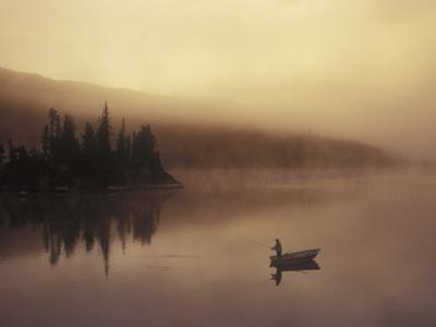 Fishing, Little Charlotte Lake, Chilcotin Region, British Columbia, Canada. by Chris Harris