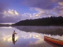 Fishing, Little Charlotte Lake, Chilcotin Region, British Columbia, Canada.-Chris Harris-Photographic Print