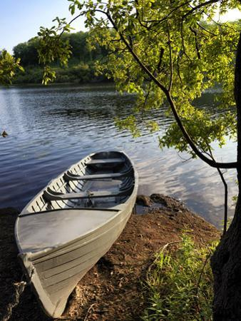 A Rowing Boat on Lough Oughter in Cavan by Chris Hill