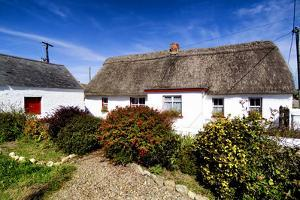 An Irish Thatched Cottage in County Wexford, Ireland by Chris Hill
