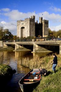 Boaters Along the Shannon River Near Bunratty Castle, County Clare, Ireland by Chris Hill