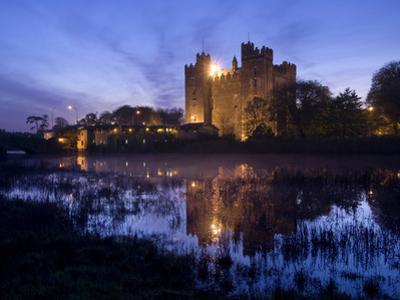 Bunratty Castle on the Banks of the Ratty River at Dusk by Chris Hill