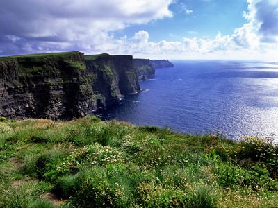 Cliffs of Moher in County Clare on the West Coast of Ireland