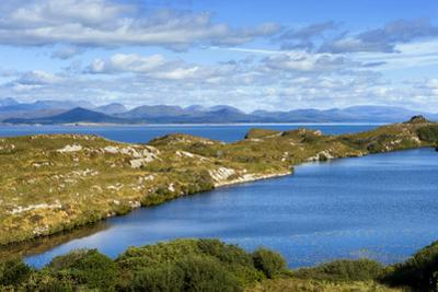 Looking over Kenmere River Towards Ring of Kerry, Macgillycuddys Reeks, Beara, County Cork by Chris Hill