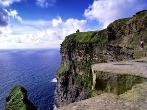 O'Brien's Tower on the Cliffs of Moher, County Clare, Ireland by Chris Hill