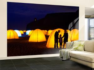 Peace Camp Art Installation by the Mussenden Temple in Derry by Chris Hill