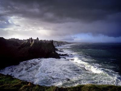Ruins of Dunluce Castle on the north Antrim coast of Ireland.