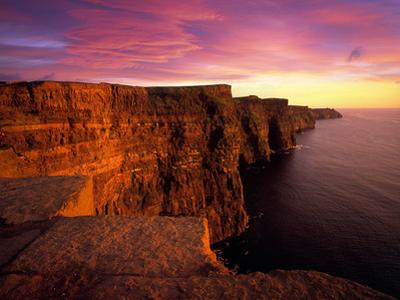 Sunset at Cliffs of Moher, County Clare, Ireland by Chris Hill