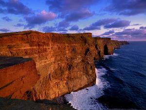 Sunset at the Cliffs of Moher on the West Coast of Ireland by Chris Hill