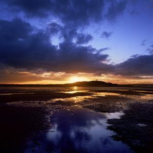 Sunset over Scrabo Tower on Strangford Lough by Chris Hill