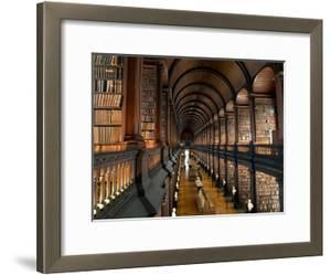 The Long Room in the Old Library at Trinity College in Dublin by Chris Hill