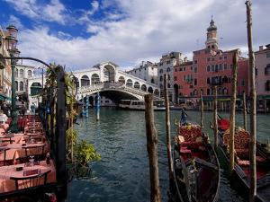 The Rialto Bridge and Gondolas on the Grand Canal in Venice by Chris Hill