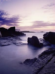The Sea Moving Among the Rocks at Dunseverick in County Antrim by Chris Hill