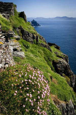 The Slopes of Skellig Michael Off the Kerry Coast, Ireland