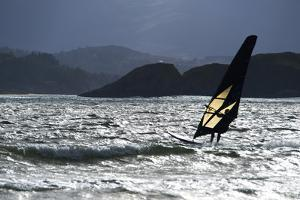 Windsurfing at Downings Sheephaven Bay, Donegal, Ireland by Chris Hill