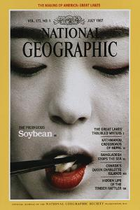 Cover of the July, 1987 National Geographic Magazine by Chris Johns