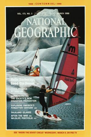 Cover of the March, 1988 National Geographic Magazine by Chris Johns