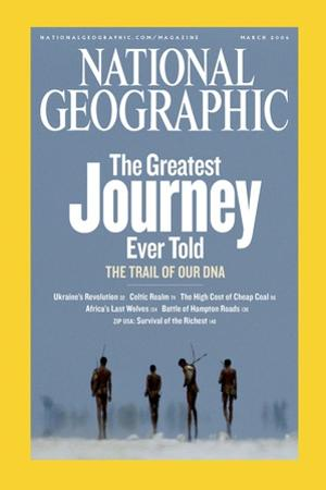 Cover of the March, 2006 National Geographic Magazine by Chris Johns